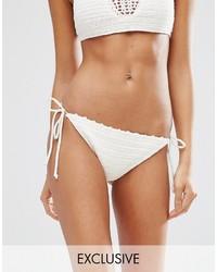 Braguitas de bikini de crochet en beige de South Beach