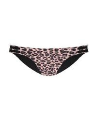 Braguitas de bikini de leopardo en marrón oscuro de YAS
