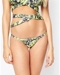 Braguitas de bikini de leopardo marrón claro