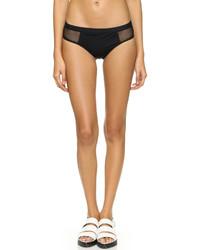 Braguitas de bikini de malla negras