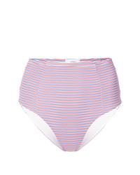 Braguitas de bikini de rayas horizontales rosadas de Onia