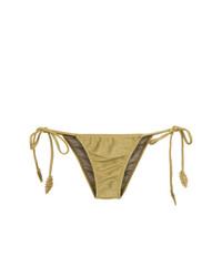Braguitas de bikini doradas de Martha Medeiros