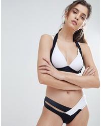 Braguitas de bikini en negro y blanco de Amy Lynn