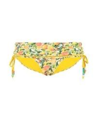Braguitas de Bikini Estampadas Amarillas de Stella McCartney