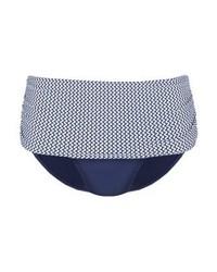 Braguitas de Bikini Estampadas Azules de Esprit