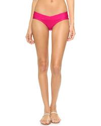 Braguitas de bikini rosa de Herve Leger