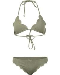 Braguitas de bikini verde oliva de Marysia Swim
