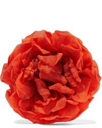 Broche con print de flores naranja de Gucci