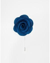 Broche de solapa azul de Asos