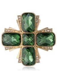 Broche de solapa verde oscuro
