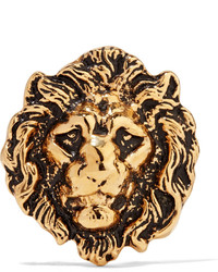 Broche dorado de Saint Laurent