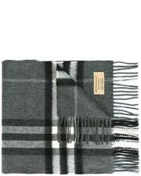 Bufanda a cuadros en gris oscuro de Burberry