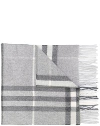 Bufanda a cuadros gris de Burberry