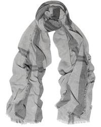 Bufanda a cuadros gris de Tomas Maier