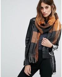 Bufanda a cuadros marrón claro de Vero Moda