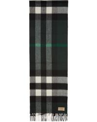 Bufanda a Cuadros Verde Oscuro de Burberry