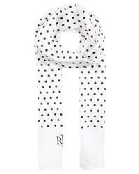 Bufanda a Lunares Blanca de Ralph Lauren