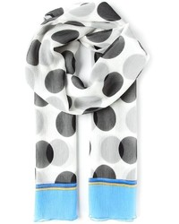 Bufanda a lunares en blanco y negro