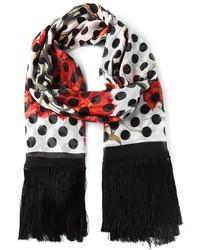 Bufanda a lunares en blanco y negro de Dolce & Gabbana