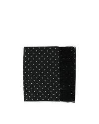Bufanda a lunares en negro y blanco