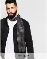 Bufanda a lunares en negro y blanco de Reclaimed Vintage