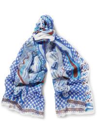 Bufanda azul de Etro