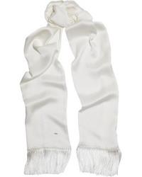 Bufanda blanca de Saint Laurent