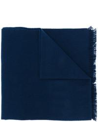 Bufanda bordada azul marino de Gucci
