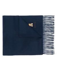 Bufanda bordada azul marino de Moschino