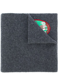 Bufanda bordada en gris oscuro de DSQUARED2