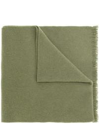 Bufanda bordada verde oliva de Gucci