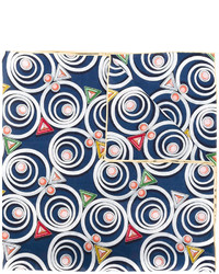 Bufanda con estampado geométrico azul marino de Fendi