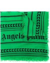 Bufanda con estampado geométrico verde de Palm Angels