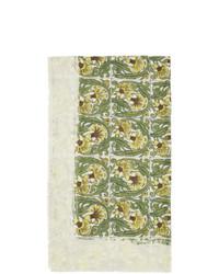 Bufanda con print de flores blanca de Loewe