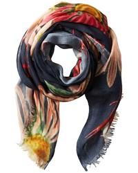 Bufanda con print de flores en multicolor