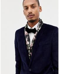 Bufanda con print de flores negra de Twisted Tailor