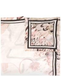 Bufanda con print de flores rosada de Barbara Bui