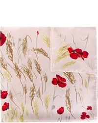 Bufanda con print de flores rosada de Valentino