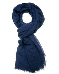Bufanda de algodón azul marino de Selected
