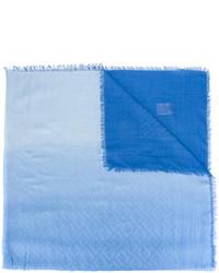 Bufanda de algodón celeste de Fendi