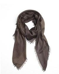 Bufanda de algodón en marrón oscuro