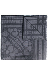Bufanda de algodón estampada negra de Philipp Plein