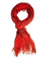 Bufanda de algodón roja de Esprit