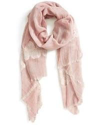Bufanda de algodón rosada