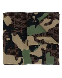 Bufanda de camuflaje marrón de Moschino