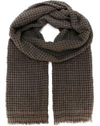 Bufanda de cuadro vichy marrón
