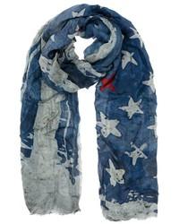 Bufanda de estrellas azul marino