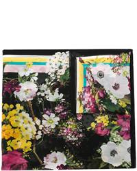 Bufanda de Flores Negra de Dolce & Gabbana