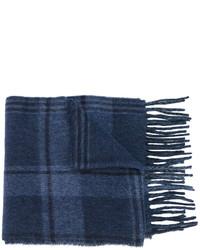 Bufanda de lana a cuadros azul marino de Polo Ralph Lauren