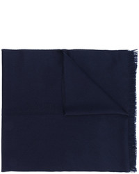 Bufanda de lana azul marino de Emporio Armani